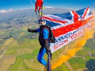 The Parachute Display Team In Support of The Royal British Legion