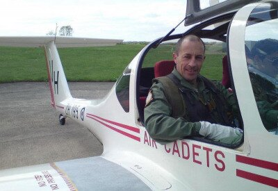 Chris Milnes of The Parachute Display Team