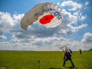 Dean Hoskins of The Parachute Display Team