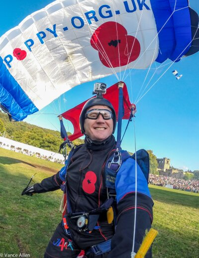 Dean Hoskins of The Parachute Display Team