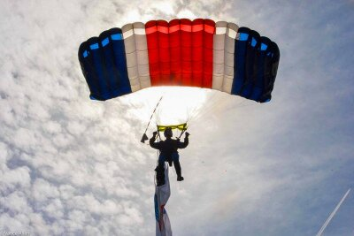 Ralph Weatherburn of The Parachute Display Team