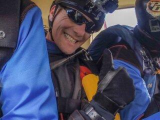Paul Gibbs of The Parachute Display Team