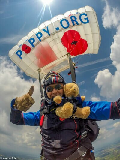 Vance Allen of The Parachute Display Team